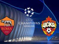 Roma vs Cska Moscow Champions League 23/10/2018